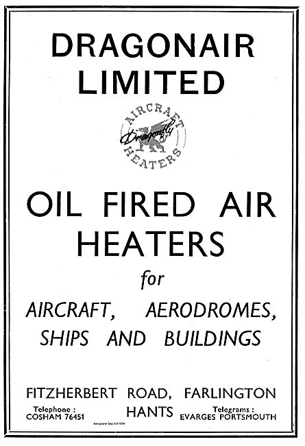 Dragomair Oil Fired Air Heaters For Aircraft & Aerodromes