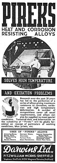 Darwins Pireks Heat & Corrosion Resisting Alloys
