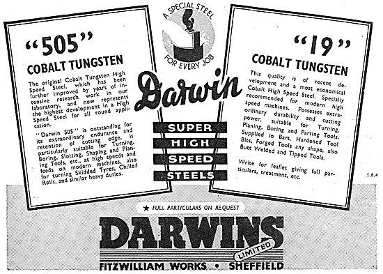 Darwins 505 Cobalt Tungsten & 19 Cobalt Tungsten