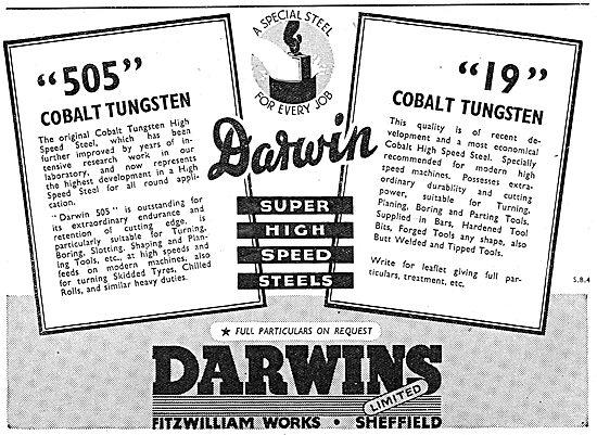 Darwins Steels. 505 Cobalt Tungsten. 19 Cobalt Tungsten