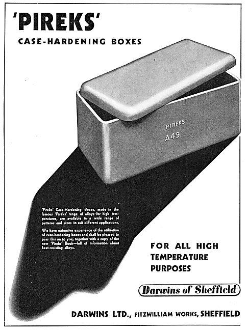 Darwins PIREKS Case-Hardening Boxes 1939