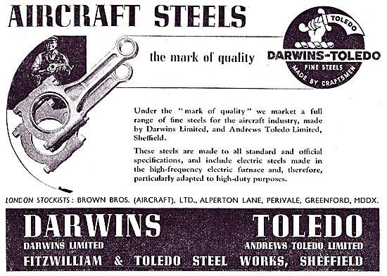 Darwins Aircraft Steels  - Darwin Toledo Fine Steels