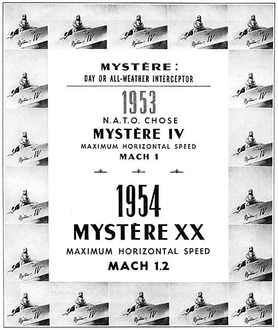 Dassault Mystere IV - Dassault Mystere XX