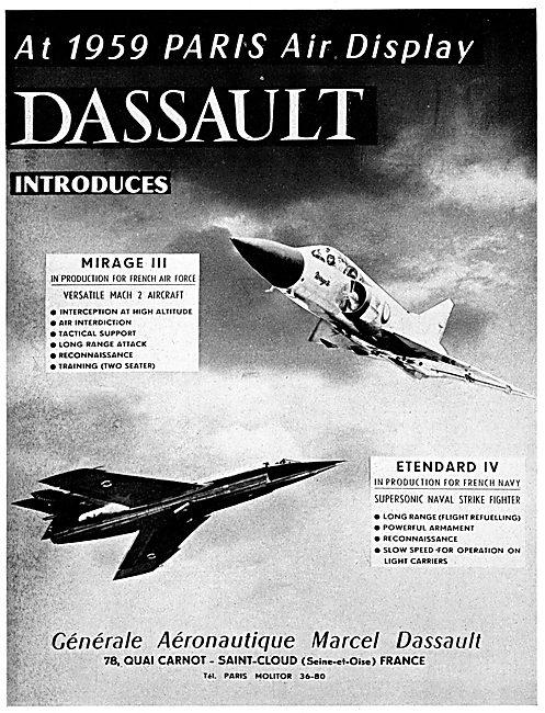 Dassault Mirage III - Dassault Etendard IV