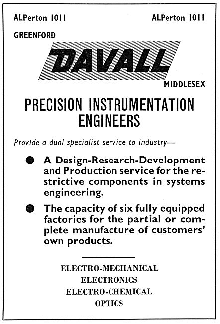 Davall Precision Instrumentation Engineers
