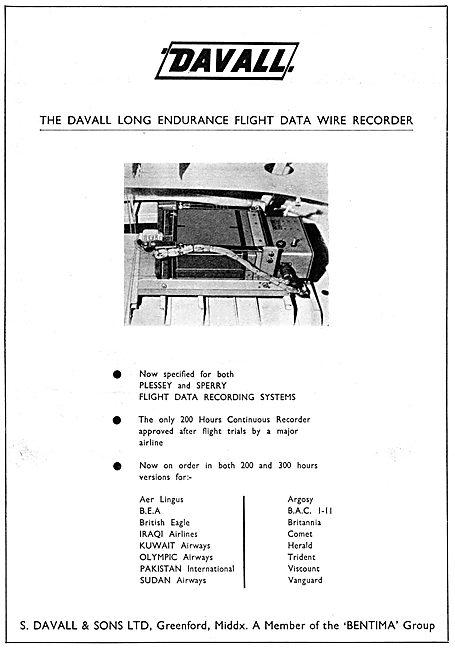 Davall Flight Data Recorders - Data Wire Recorders 1965