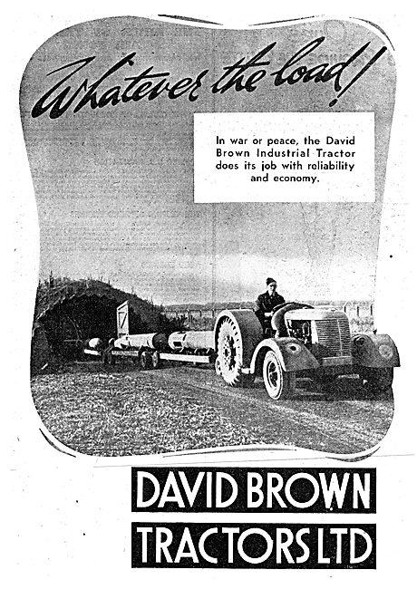 David Brown Industrial Tractors 1943 Advert