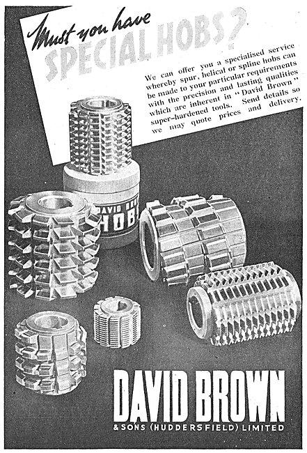 David Brown Helical Spline Hobs
