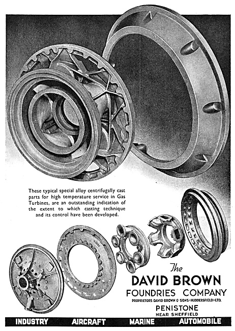 David Brown Foundries - Steel Castings For Aircraft