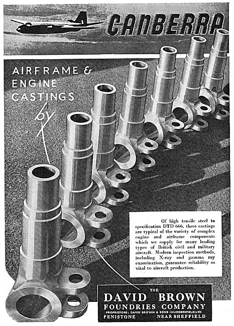 David Brown Foundries Airframe & Engine Castings