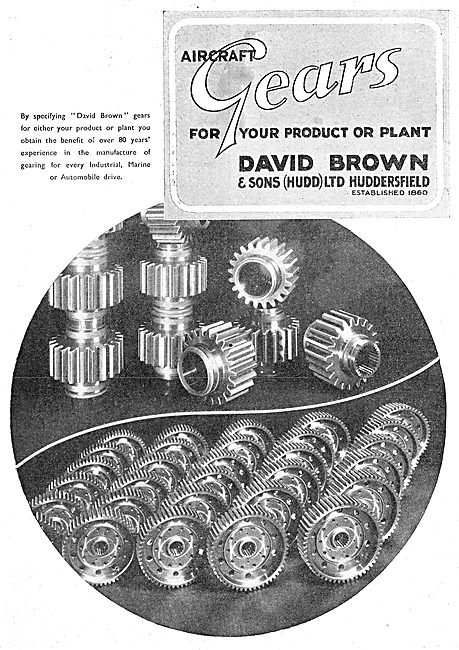 David Brown Gears For Aircraft & Vehicles