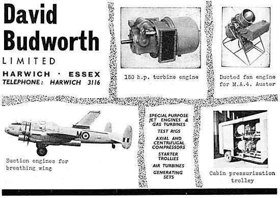 David Budworth Ltd. Harwich. Aeronautical Engineers
