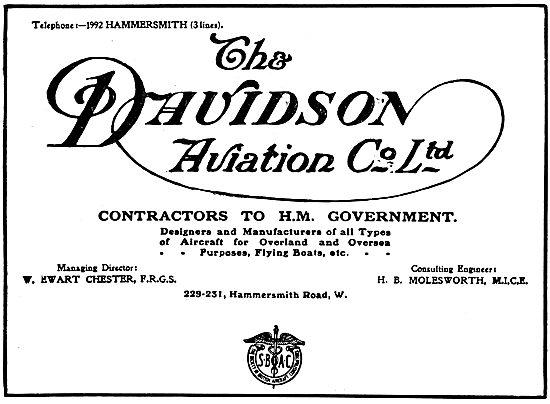 Davidson Aviation - Aeroplane Constructors