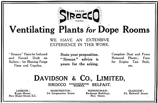 Davidson & Co. Ventilating Plant For Dope Rooms