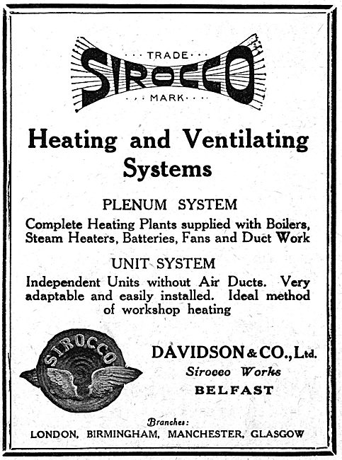 Davidson & Co Ltd. Sirocco Factory Heating & Ventilation Systems