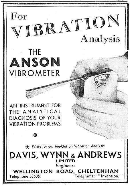 Davis, Wynn & Andrews Vibration Analysis  Anson Vibrometer