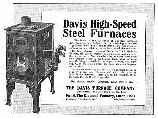 The Davis Furnace Company: High Speed Steel Furnaces