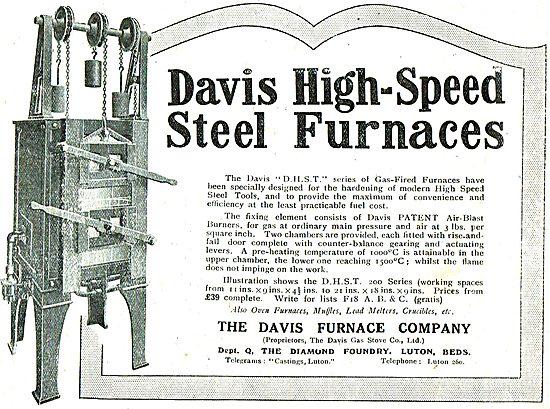 The Davis Furnace Company: High Speed Steel Furnaces
