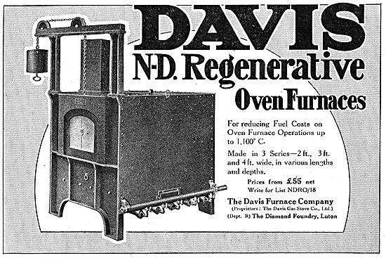 The Davis Furnace Company: N-D. Regenerative Oven Furnaces 1918