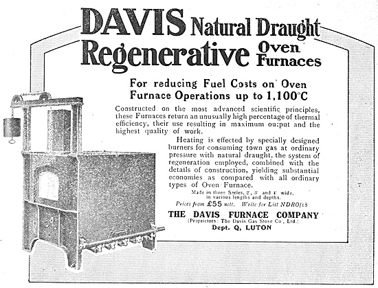 The Davis Furnace Company: Oven Furnaces 1918