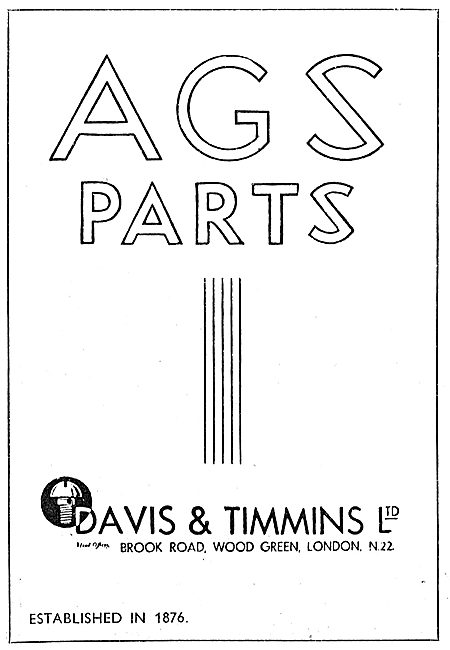 Davis & Timmins AGS Parts