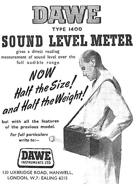 Dawe Instruments. Hanwell. Type 1400 Sound Level Meter