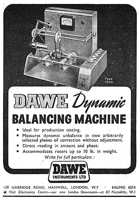 Dawe Instruments. Hanwell. Dynamic Balancing Machine