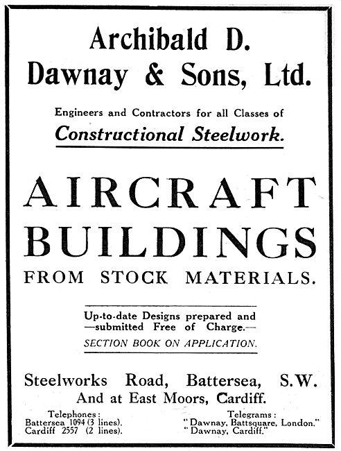 Archibald D.Dawnay. Hangars & Constructional Steelwork