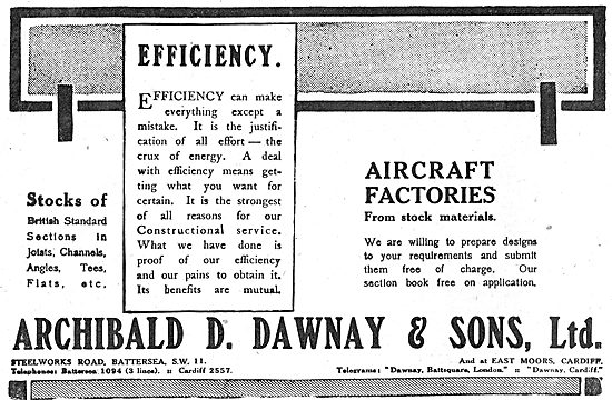 Archibald D.Dawnay. Aircraft Factory Design & Construction