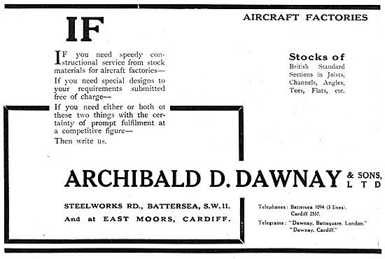 Archibald D.Dawnay. Aircraft Factory Design & Construction