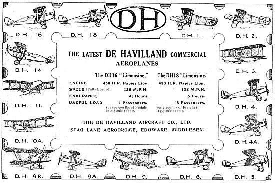 De Havilland Aircraft - DH16 Linousine