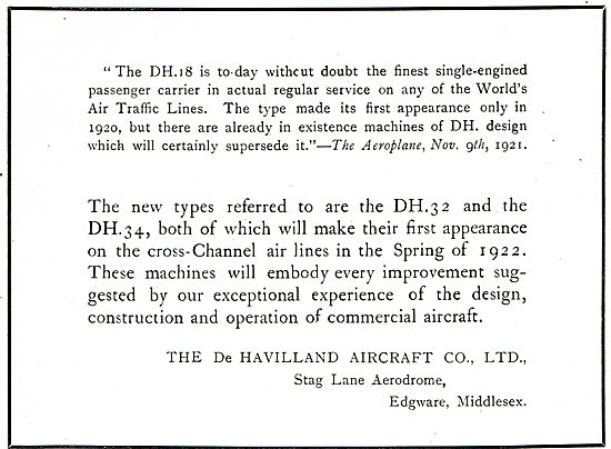 The De Havilland DH32 & DH34 Passenger Aircraft