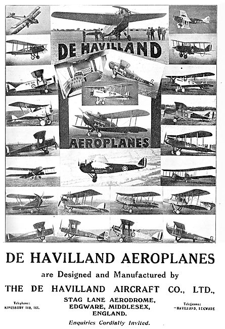 The De Havilland Aircraft Range