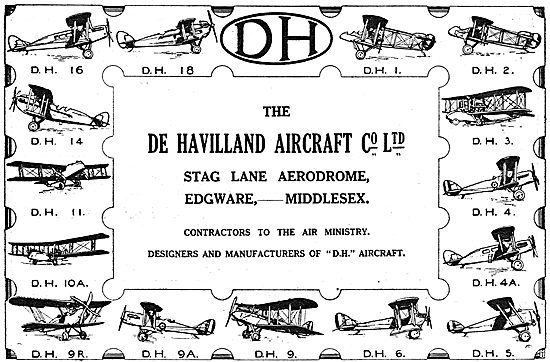 The De Havilland Range Of Aircraft
