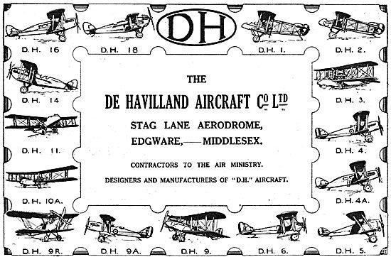 The De Havilland Range Of Aircraft