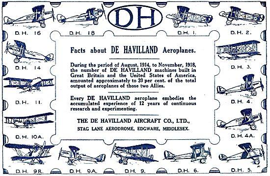 De Havilland Aircraft Types