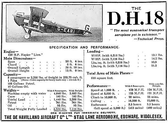 De Havilland DH18 - G-EARI