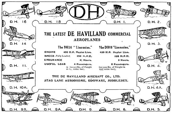 De Havilland Aircraft 1921