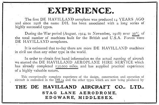 De Havilland Aircraft Experience