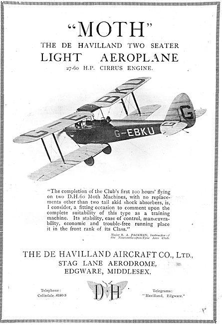 De Havilland DH60 Cirrus Moth - G-EBKU
