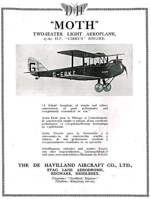 De Havilland DH60 Moth - Cirrus Moth G-EBKT