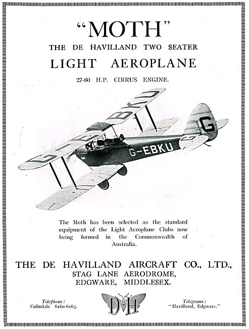 De Havilland DH60 Moth - Cirrus Moth