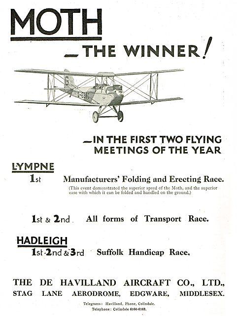 De Havilland Moths1st At Lympne