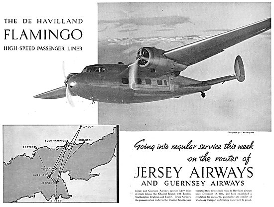 De Havilland Flamingo - Jersey Airways