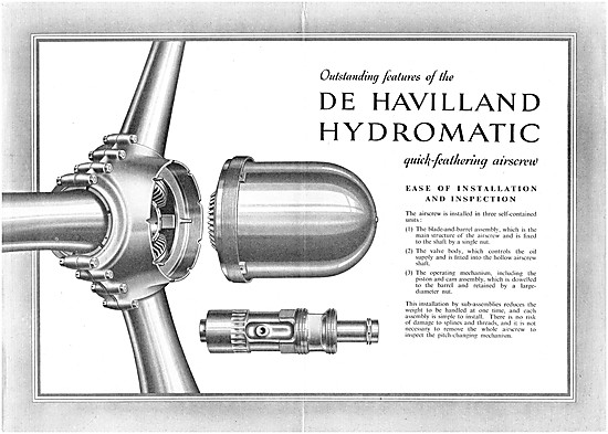 De Havilland Propellers - De Havilland Hydromatic Propellers