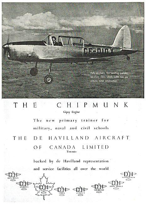 De Havilland DHC 1 Chipmunk