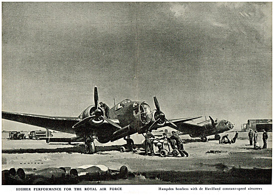De Havilland Propellers - Handley Page Hampden
