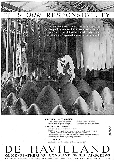 De Havilland Propellers