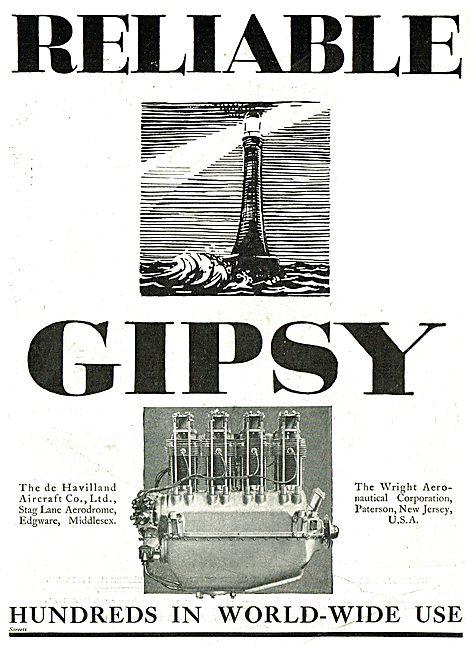 Reliable Gipsy - De Havilland Gipsy - Wright Corp Gipsy