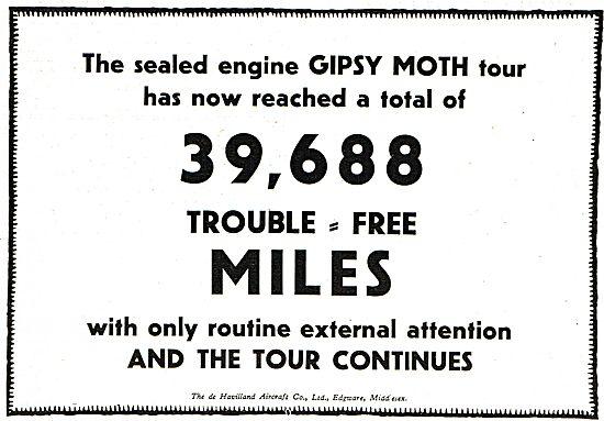 De Havilland Gipsy Aero Engine 39,688 Troible Free Miles